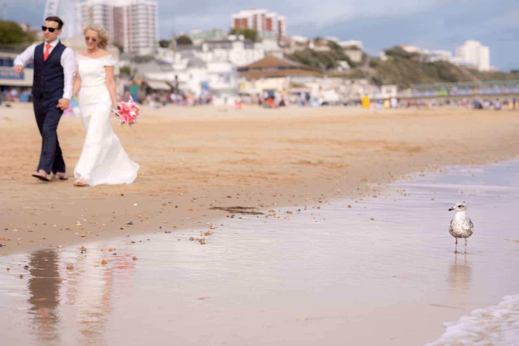 bournemouth wedding photographer beach wedding