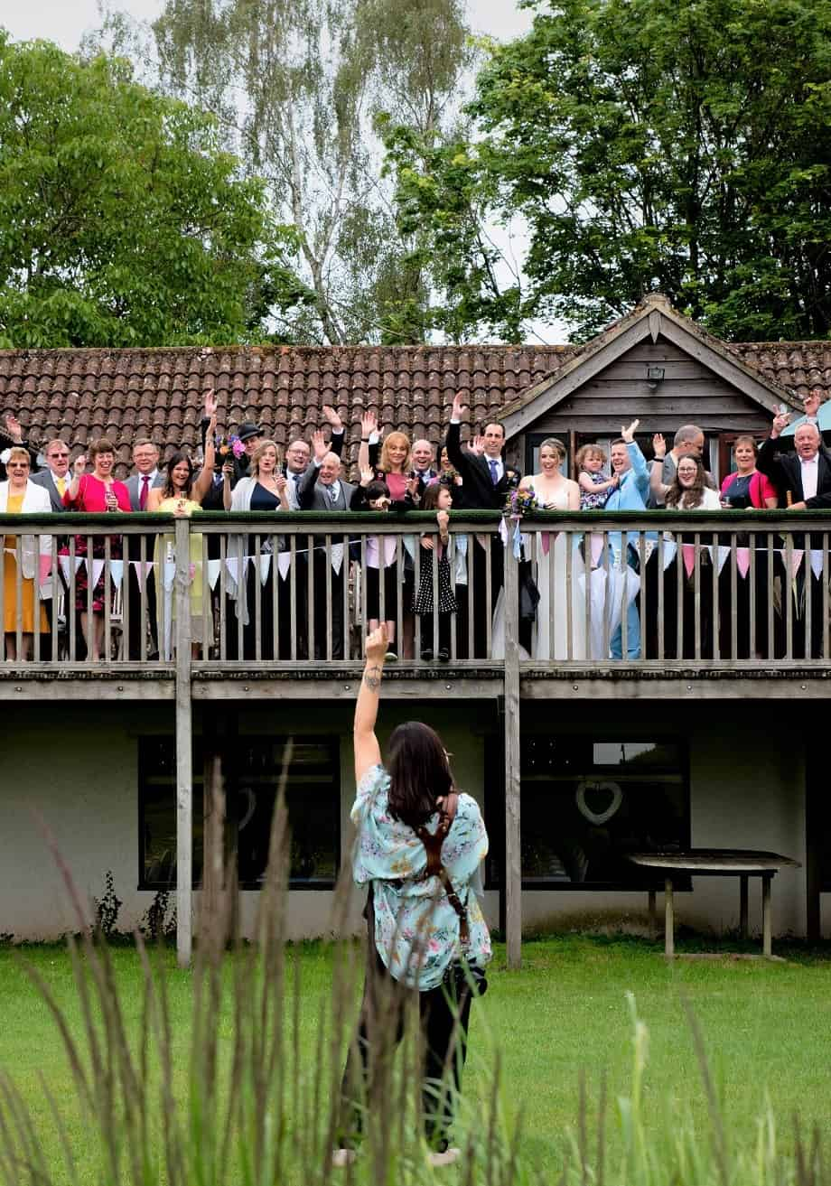 Minah photographing a wedding at Hawk Conservancy in Andover, Hampshire