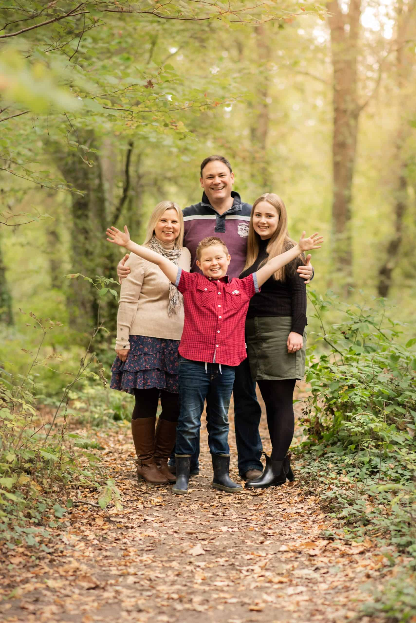 Fun Family photo, taken of the whole family at Swanick lakes for a relaxed and fun photo shoot. in Hampshire