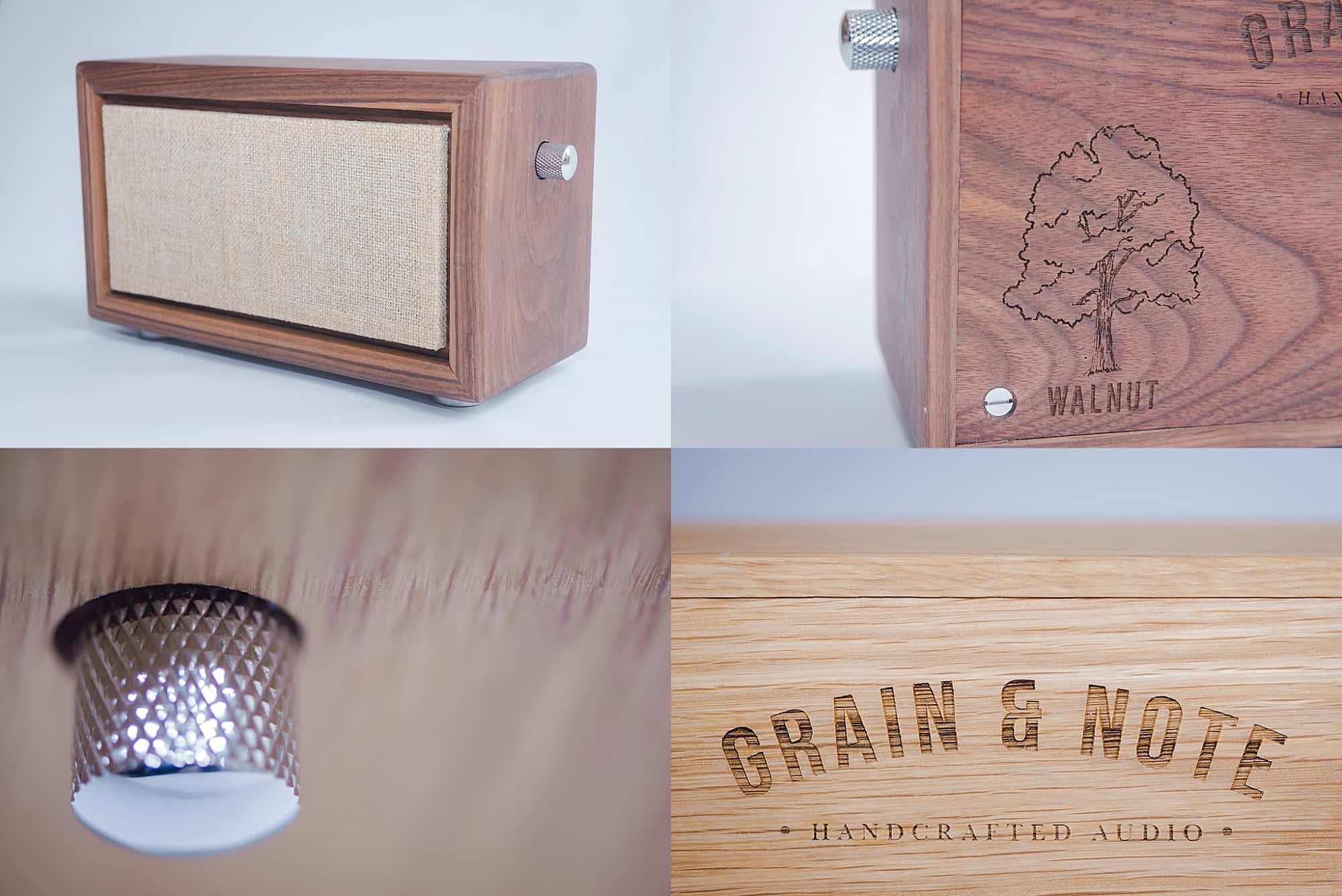 Product photographs of speakers from different angles for catalogue sales