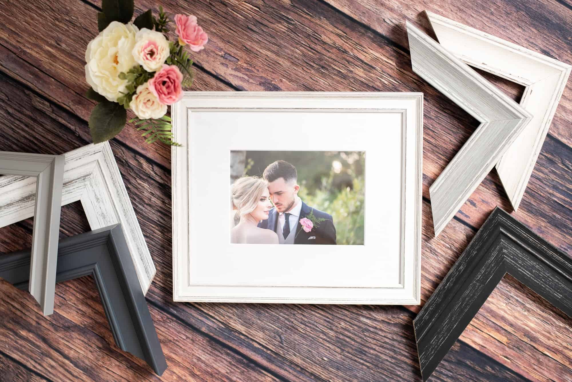 Framed products, bespoke chevrons and prints, framed of your favourite wedding photos and family image